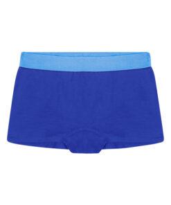 Blauwe meisjes short zonder label en zijnaden