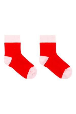 Halfhoge sokken rood - roze