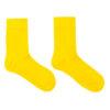 Gele naadloze bamboe sokken voor kinderen