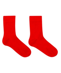 Naadloze bamboe sokken voor kinderen rood
