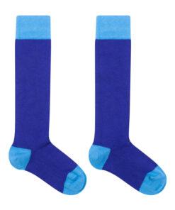 Zachte kniekousen blauw