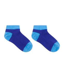 sneaker sokken blauw naadloos