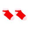 Naadloze sneaker sokken voor kinderen rood